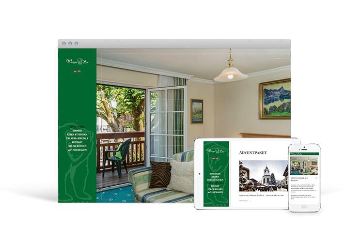 Weisser b r webseite b ro36 webdesign illustration for Design hotel salzkammergut
